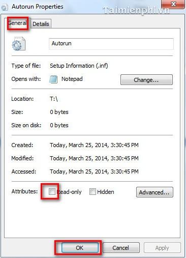 Bảo vệ USB khỏi Virus Autorun không dùng phần mềm
